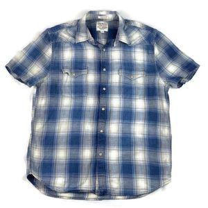 Lucky Brand Snap Shirt Short Sleeve California Fit
